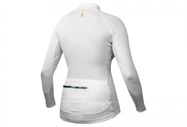 mavic maillot manches longues ksyrium elite blanc femme xs