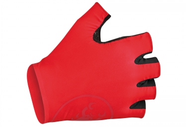CASTELLI Paire de Gants SECONDAPELLE RC Rouge Noir