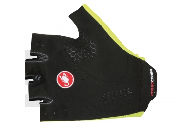 castelli paire de gants secondapelle rc jaune noir l