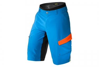mavic short avec peau de chamois crossmax pro bleu orange xl