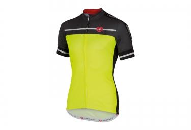 castelli maillot velocissimo jaune noir s