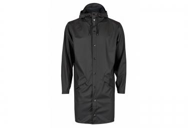 rains veste long jacket noir l xl