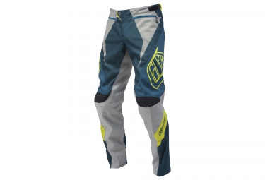 troy lee designs pantalon sprint reflex bleu gris 34