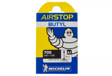 Michelin chambre a air route a1 airstop 700x18 25 valve presta 80mm