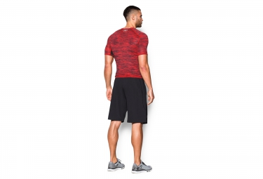 UNDER ARMOUR Maillot de Compression Manches Courtes COOLSWITCH Rouge Noir