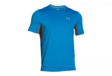under armour maillot manches courtes coolswitch run bleu xl
