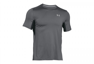 under armour maillot manches courtes coolswitch run gris xl