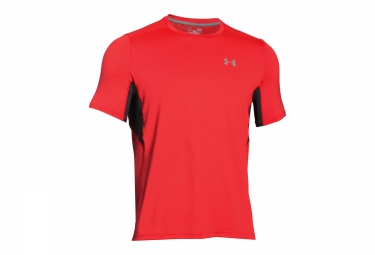 under armour maillot manches courtes coolswitch run rouge s