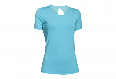 UNDER ARMOUR Maillot Manches Courtes HEATGEAR COOLSWITCH Bleu Clair Femme