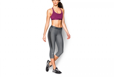 UNDER ARMOUR Collant 3/4 HEATGEAR COOLSWITCH Gris Femme