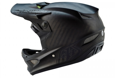 Casque intégral Troy Lee Designs D3 CARBON MIPS MIDNIGHT Noir Mat