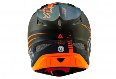 Casque intégral Troy Lee Designs D3 COMPOSITE BERZERK 2016 Vert Orange