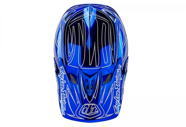 casque integral troy lee designs d3 composite reflex 2016 bleu jaune l 58 59 cm