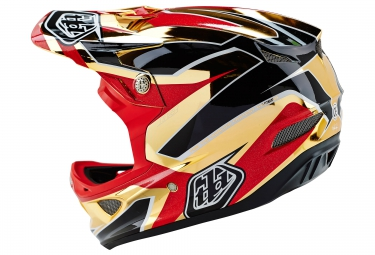 Casco Integral Troy Lee Designs D3 COMPOSITE REFLEX Rouge / Or
