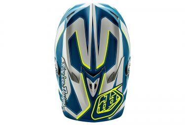 casque integral troy lee designs d3 composite reflex 2016 bleu jaune l 58 59 cm