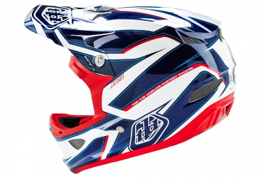 Casco Integral Troy Lee Designs D3 COMPOSITE REFLEX Blanc / Bleu
