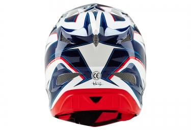 Casque intégral Troy Lee Designs D3 COMPOSITE REFLEX Blanc Bleu