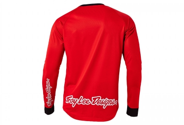troy lee designs maillot manches longues moto rouge s