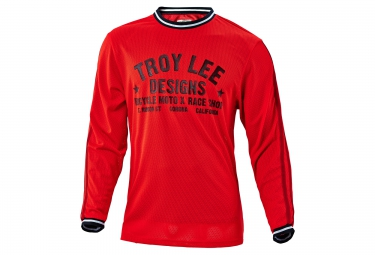 troy lee designs maillot manches longues super retro rouge s