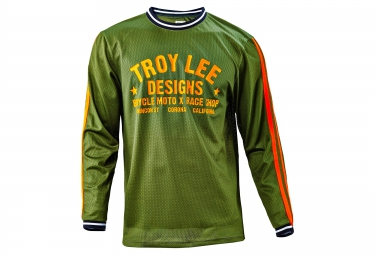 troy lee designs 2016 maillot manches longues super retro vert s