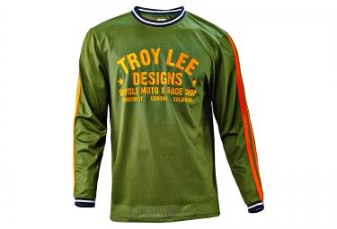 troy lee designs 2016 maillot manches longues super retro vert s