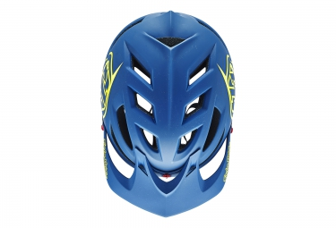 casque troy lee designs a1 drone 2016 bleu jaune xs s 54 56 cm