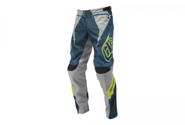 troy lee designs pantalon enfant sprint bleu gris 24