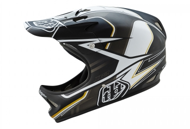 casque integral troy lee designs d2 sonar noir blanc xs s 53 55 cm