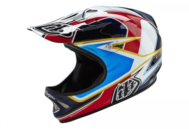 casque integral troy lee designs d2 sonar rouge blanc xs s 53 55 cm