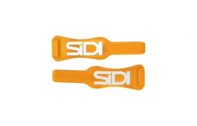 SIDI Pair Adjustable Instep Orange/White