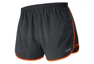 gore running wear split short essential orange femme s