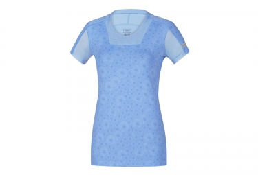 gore running wear maillot manches courtes air lady print bleu femme s