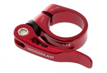 collier de selle woodman deathgrip qr avec levier rouge 31 8