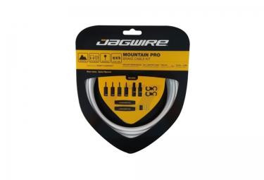 Jagwire kit cables et gaines de frein mountain pro ripcord blanc