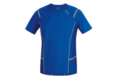 gore running wear maillot manches courtes mythos 6 0 bleu jaune s