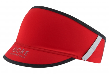 gore running wear visiere fusion rouge