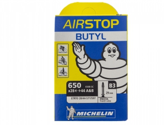 Michelin B3 AirStop Butyl Road Bike Tube 650x28/44 Presta 29mm