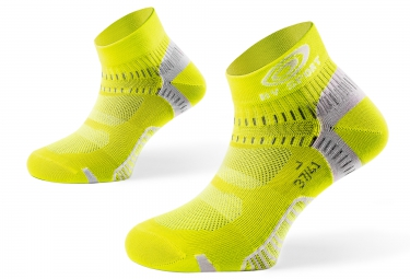 bv sport paire de chaussettes light one jaune 36 38
