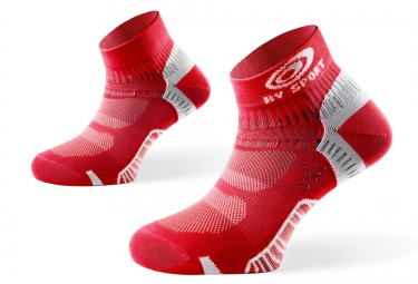 Bv sport paire de chaussettes light one rouge 39 41