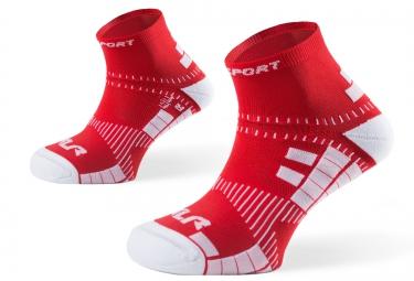bv sport paire de chaussettes xlr rouge 45 47