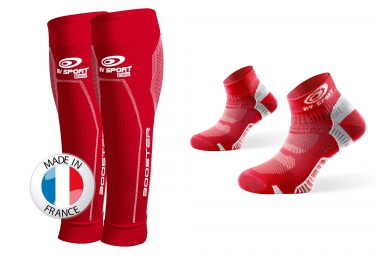 bv sport pack booster elite socquettes pointure 40 45 rouge l