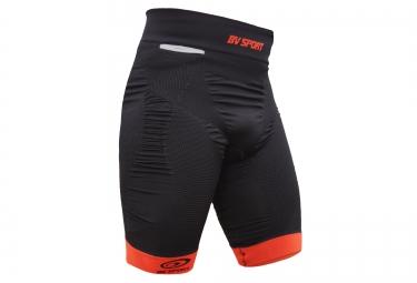 Bv sport cuissard de compression trail csx noir rouge s