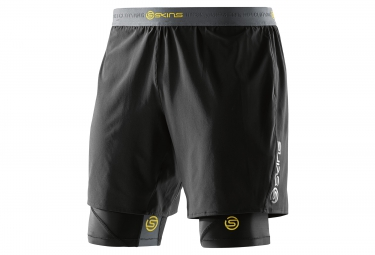 short 2 en 1 skins dnamic homme noir xl