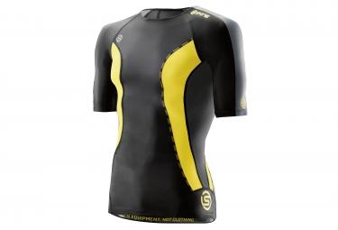 Maillot de compression skins dnamic homme noir jaune xl