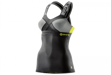 debardeur de compression skins dnamic femme noir jaune xs