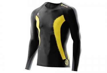 maillot de compression skins dnamic homme noir jaune l