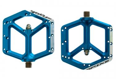 spank paire de pedales spike bleu