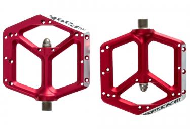 Spank paire de pedales spike rouge