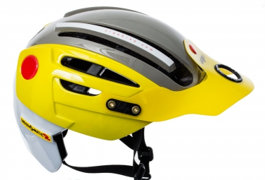 casque urge endur o matic 2 jaune gris s m 54 57 cm