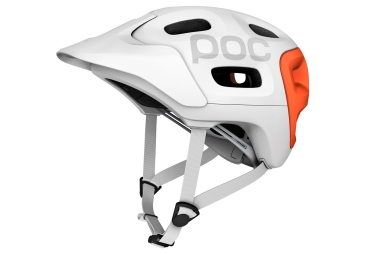 casque poc trabec race blanc orange xs s 51 54 cm